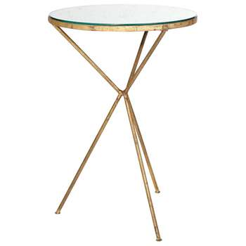 Triomphe Tripod Table - Antiqued Mirror (64 x 43cm)