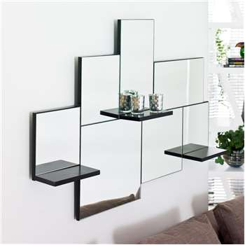 Triple shelf mirror (70 x 100cm)