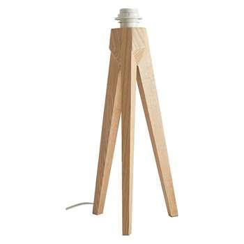 Tripod Ash wooden tripod table lamp base (Diameter 18cm)