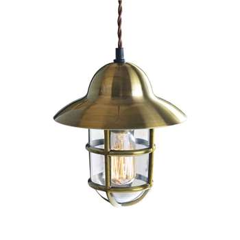 Tristan Industrial Brass Pendant Light (25 x 20cm)