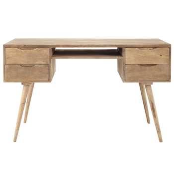 TROCADERO - Greyed Solid Mango Wood Vintage Desk (H77 x W130 x D65cm)