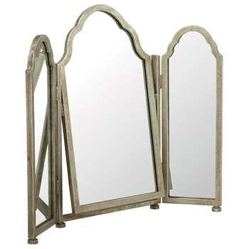Trois Mirror - Antique Silver (70 x 84cm)