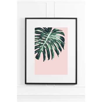 Tropical Blush No.2 - Black Frame (H90 x W70cm)