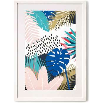 Tropical Leaves, Framed Print (70 x 50cm)