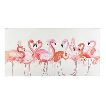 TROPICALE Pink Flamingo Canvas (H70 x W140 x D4cm)