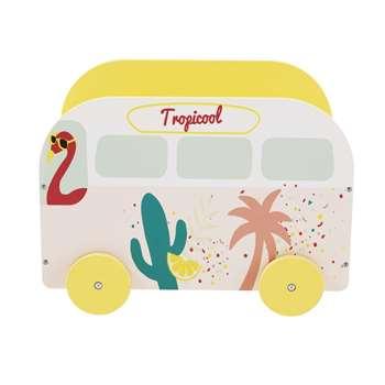 TROPICOOL Children's Van Toy Box with Tropical Print (H36 x W50 x D35cm)