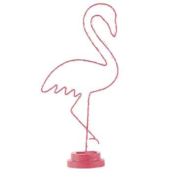 TROPICOOL Pink Metal Pink Flamingo Light-Up Accessory (H41 x W19 x D10cm)