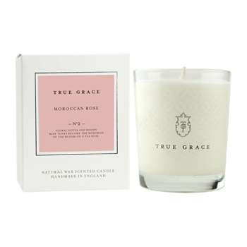 True Grace - Village Classic Candle - Moroccan Rose - 190g (H9 x W7.5 x D7.5cm)