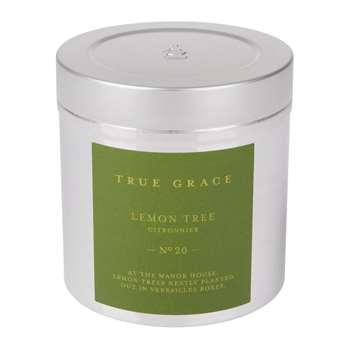 True Grace - Walled Garden Candle in Tin - Lemon Tree - 250g (H8 x W7.5 x D7.5cm)