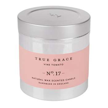 True Grace - Walled Garden Candle in Tin - Vine Tomato - 250g (H8 x W7.5 x D7.5cm)