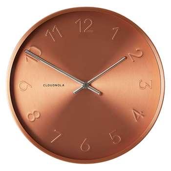 Cloudnola Trusty Copper Wall Clock (Diameter 30cm)