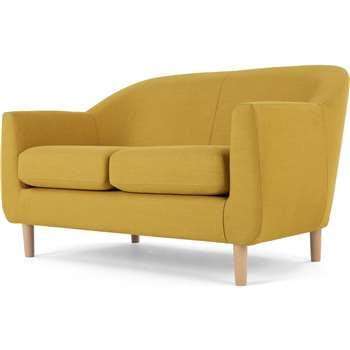 Tubby 2 Seater Sofa, Retro Yellow (H73 x W125 x D76cm)