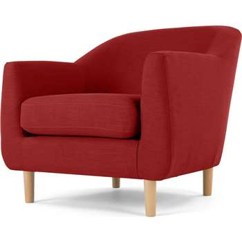 Tubby Armchair, Postbox Red (73 x 80cm)