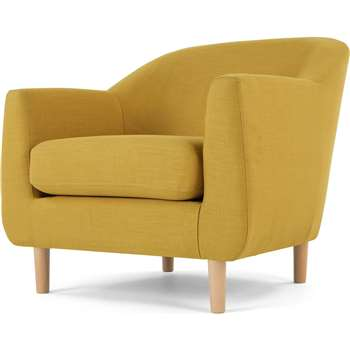 Tubby Armchair, Retro Yellow (H73 x W80 x D76cm)