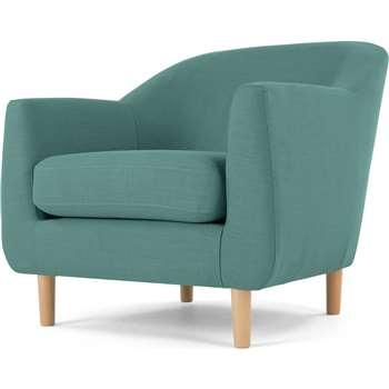 Tubby Armchair, Soft Teal (73 x 80cm)
