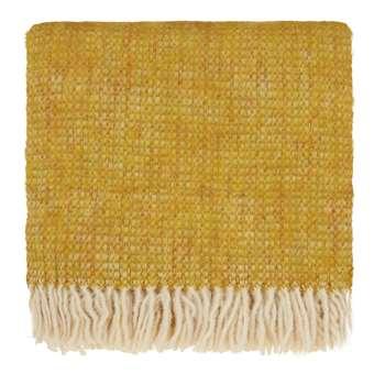 Tudela Mohair Blanket, Mustard & Off-White (130 x 180cm)