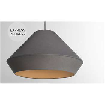 Tuli Large Pendant Lamp Shade, Grey (H26 x W45 x D45cm)