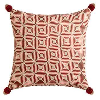 Tuli Tasselled Cushion Cover, Large - Paprika (51 x 51cm)