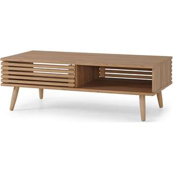 Tulma Storage Coffee Table, Oak Effect (H40 x W118 x D58cm)