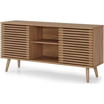 Tulma Wide Sideboard, Oak Effect (H69 x W135 x D38cm)