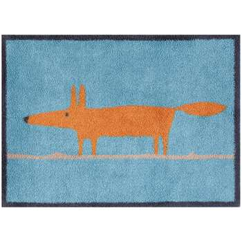 Turtle Mat Scion Mr Fox Door Mat, Blue (H60 x W85cm)