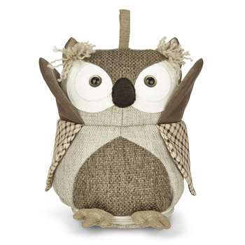 Tweed Owl Doorstop (Height 25cm)