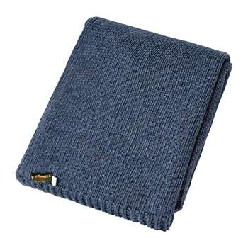Tweedmill - Knitted Alpaca Throw - Blue Slate (H130 x W180cm)