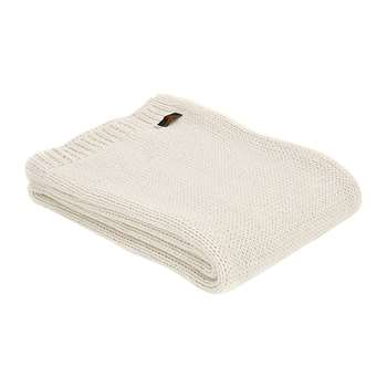 Tweedmill - Knitted Alpaca Throw - Cream (H130 x W180cm)