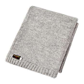 Tweedmill - Knitted Alpaca Throw - Grey (H130 x W180cm)