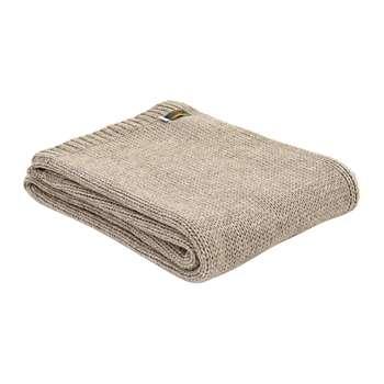 Tweedmill - Knitted Alpaca Throw - Natural (H130 x W180cm)
