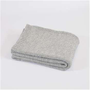 Tweedmill Knitted Throw in Grey 130 x 180cm