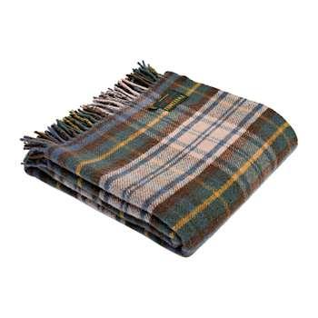 Tweedmill - Pure New Wool Tartan Throw - Antique Dress Gordon (H150 x W183cm)