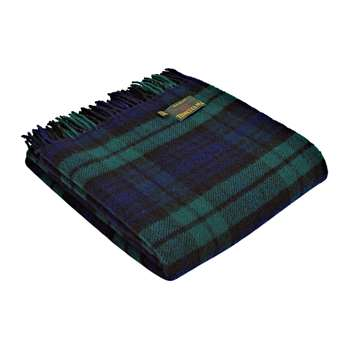 Tweedmill - Pure New Wool Tartan Throw - Blackwatch (H150 x W183cm)