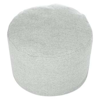 Tweedmill - Tweed Pouf - Silver Grey Herringbone (H30 x W45 x D45cm)