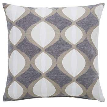 TWIGGY grey cushion with two-tone motifs (45 x 45cm)