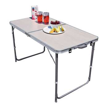 Twin Height Folding Aluminium Table - Large (Width 120cm)