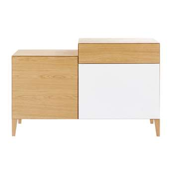Twin-tone 2-Door 1-Drawer Tall Sideboard Chromatik (H75 x W116 x D42cm)