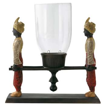 Two Man Hurricane Candle Holder (36 x 24cm)