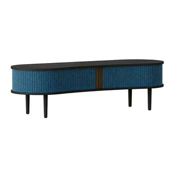 UMAGE - Audacious TV Bench - Black - Petrol Blue (H40 x W140 x D46cm)