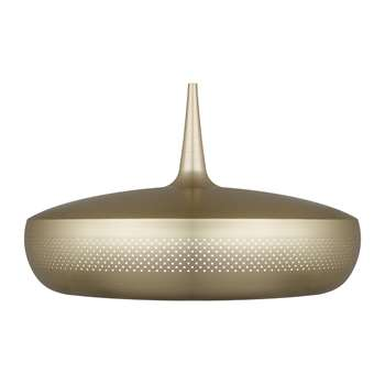 UMAGE - Clava Dine Lamp Shade - Brushed Brass (H28 x W43 x D43cm)