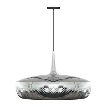 UMAGE - Clava Dine Lamp Shade - Brushed Steel (H28 x W43 x D43cm)