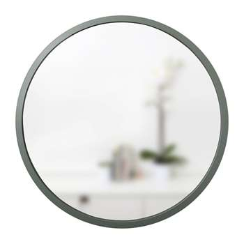 Umbra - Hub Round Mirror - Spruce (Diameter 61cm)