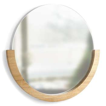 Umbra - Mira Wall Mirror, Natural (H52.8 x W54.6 x D3.8cm)