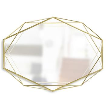 Umbra Prisma Mirror - Brass (H42.5 x W56.5 x D8.3cm)