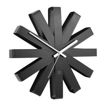 Umbra - Ribbon Wall Clock - Black (Diameter 30cm)