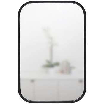 Umbra Rounded Corners Mirror, Black (H93 x W63 x D4cm)