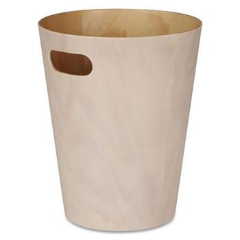 Umbra Woodrow Waste Bin - White (H27.9 x W22.9 x D22.9cm)