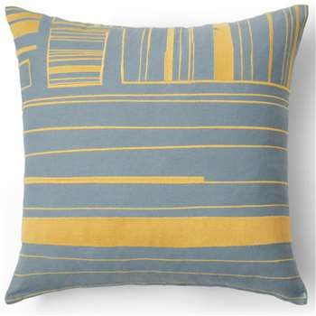 Uno Cushion, Yellow and  Blue (H45 x W45cm)
