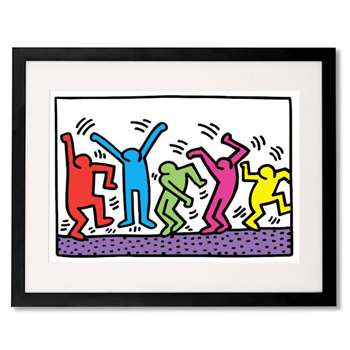Untitled by Keith Haring, Framed Wall Art Print (H40 x W50 x D3.2cm)