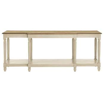 Upton Weathered Oak Top Console Table - Wood (80 x 200cm)